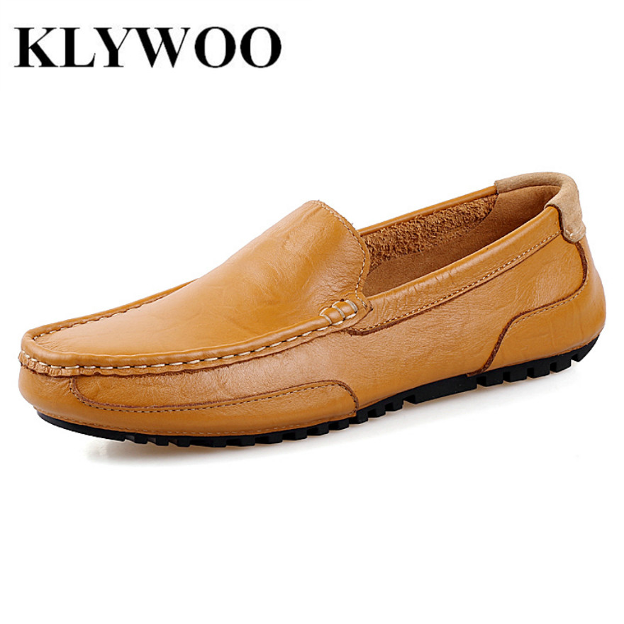 KLYWOO Men Shoes Casual 2017 New Fashion Leather Driving Shoes Men Spring Autumn Flats For Men Casual Shoes Loafers Breathable 2017 new fashion summer spring men driving shoes loafers real leather boat shoes breathable male casual flats