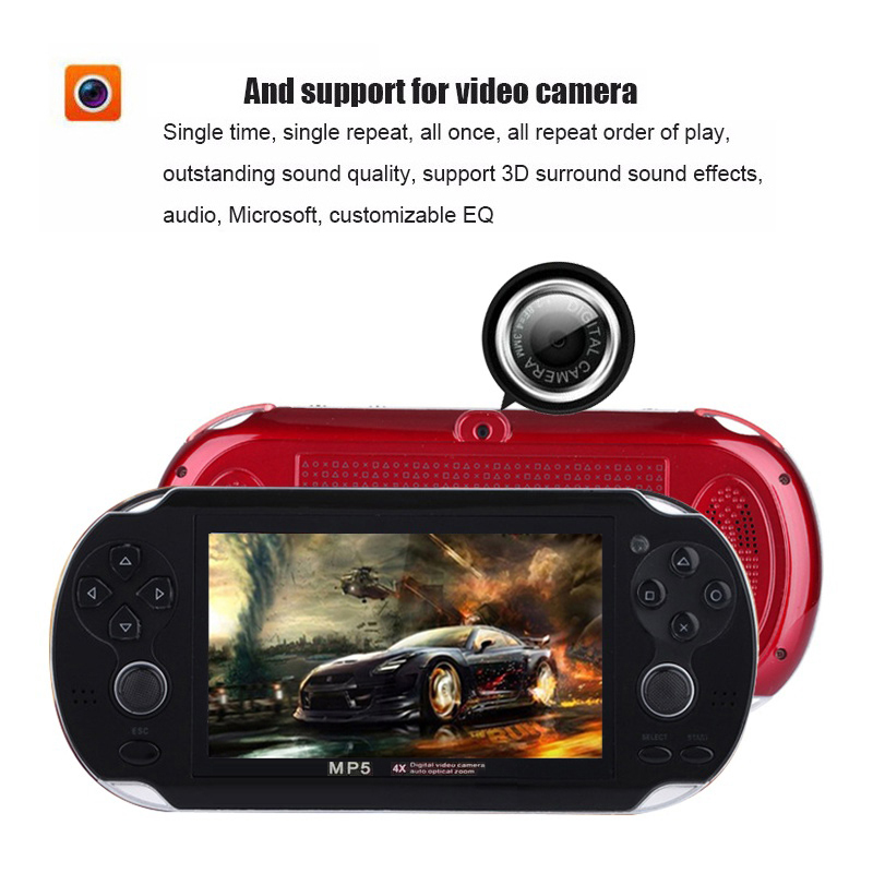 US $34 8 12% OFF|8GB 4 3 inch Portable handheld Game Console Camera MP4 MP5  Gaming Player HD Video Game Console Built in 3000 Retro Classic Games-in