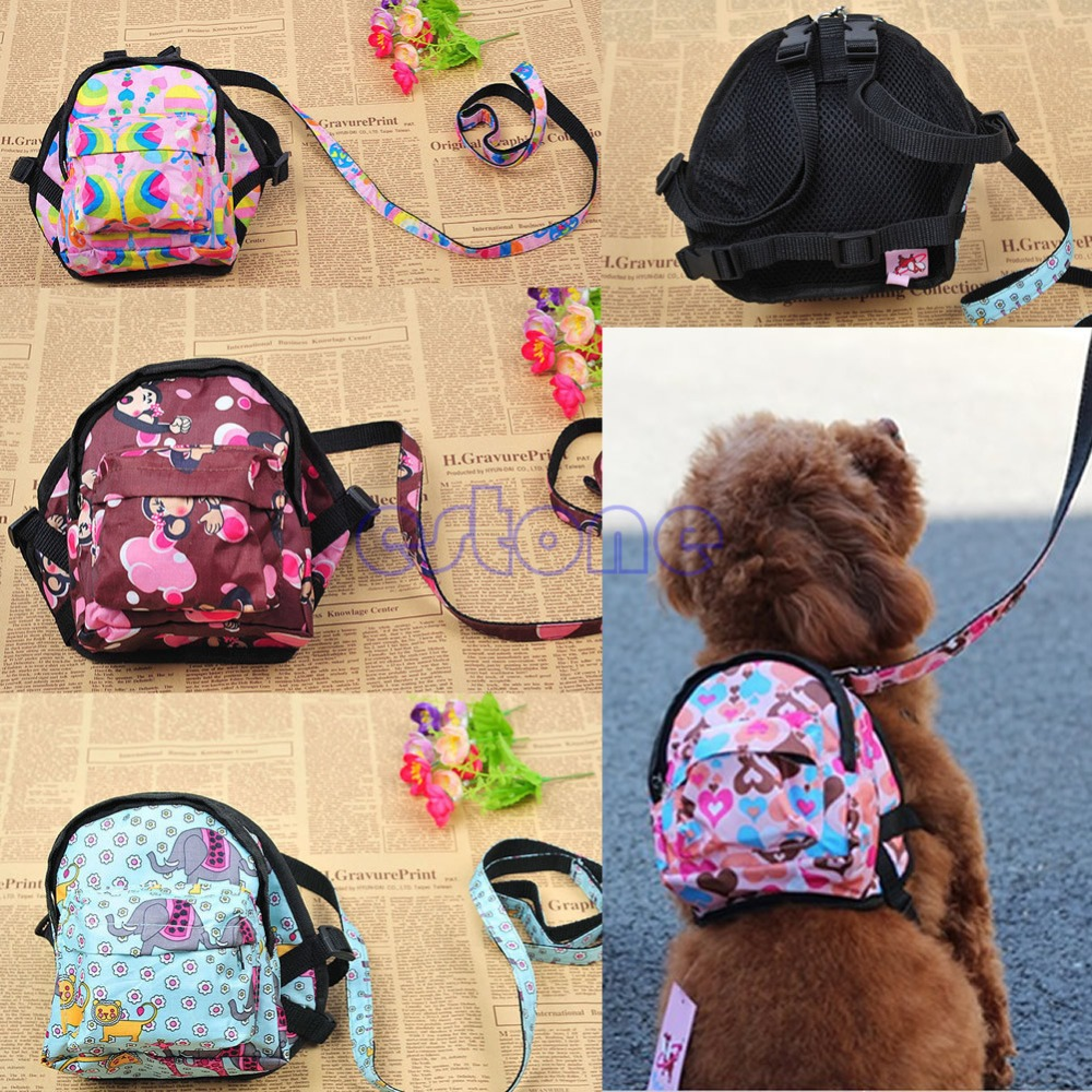 Pet Dog Bag Backpack Outdoor Travel Carrier For Dog Puppy Cats With Leash