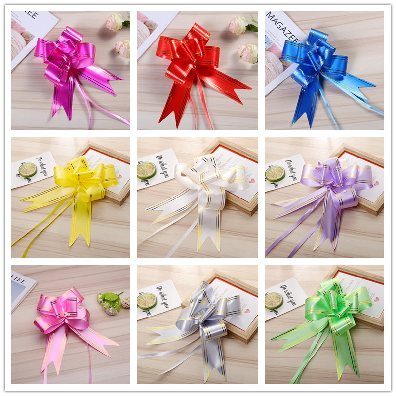 10ps Lot Pull Bows Gift Ribbons Christmas Wrap Birthday Party Decor Valentines Wedding Car Decoration Favors Supplies