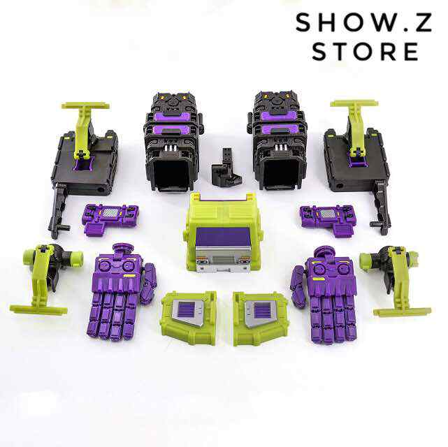 [Afficher. Z Store] X2Toys Shadow Fisher XS001 Kit de mise à niveau pour la Figure de Transformation de la classe Titan dévastateur