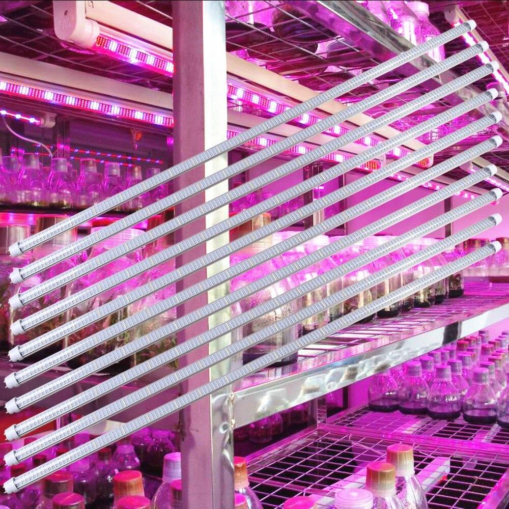 10pcs/Lot Full Spectrum 60W LED Grow Light Bar 1.2M 600SMD Indoor Hydroponics Flowers Vegatables Medical Plant Light Strip