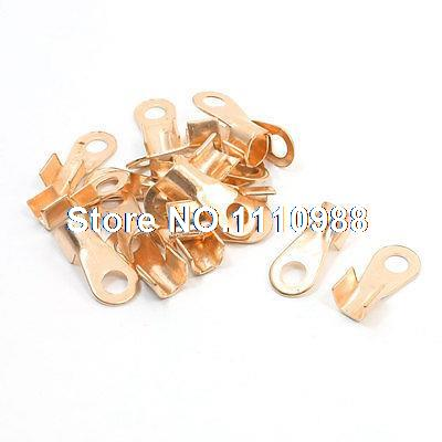 20pcs 50A Ring Tongue Cable Wiring Welding Copper Connector Terminal 10 pcs 80a cable connector lugs ring tongue copper passing through terminals
