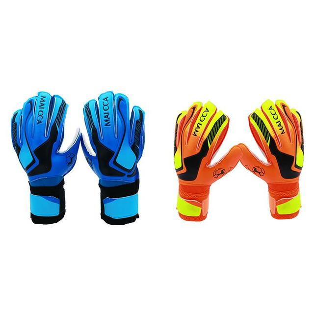 Children s Soccer Goalkeeper Gloves With Fingertips Thickened Latex Wear  Resistant Reduce Impact Non-Slip Gloves 80388a5e95af