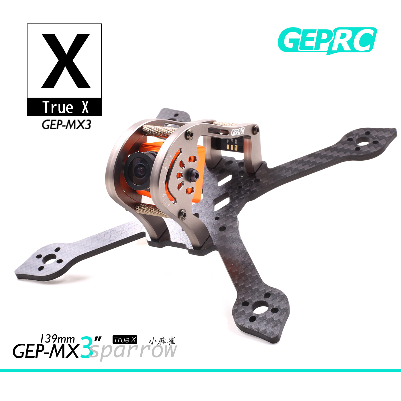 GEPRC MX3 Sparrow Geprc GEP-MX3 139 139mm Carbon Fiber 3mm Arm FPV Racing Frame for Rc Quadcopter Racer DIY geprc diy fpv mini drone gep bx5 flyshark quadcopter 3k pure carbon fiber frame for the racing 4 5 6 4mm main arm plate