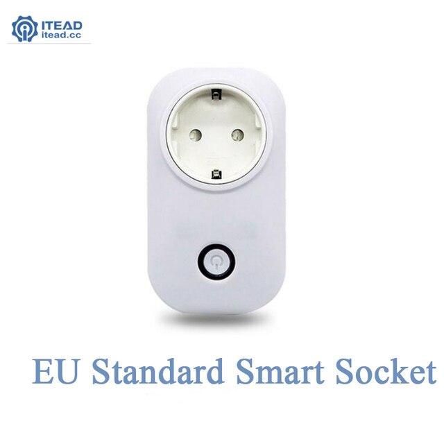 ЕС, США, ВЕЛИКОБРИТАНИЯ Стандартный Itead Wi-Fi Умный Гнездо Беспроводной Разъем Дистанционного Управления Умный Дом Автоматизация Smart Power Разъем