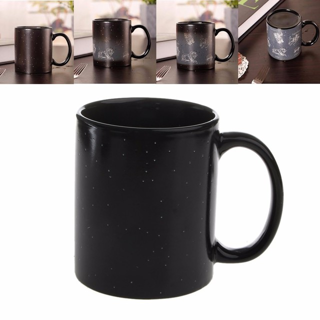 Magical Zodiac Heat Reactive Color Changing Ceramic Coffee Star Mug Cup C42