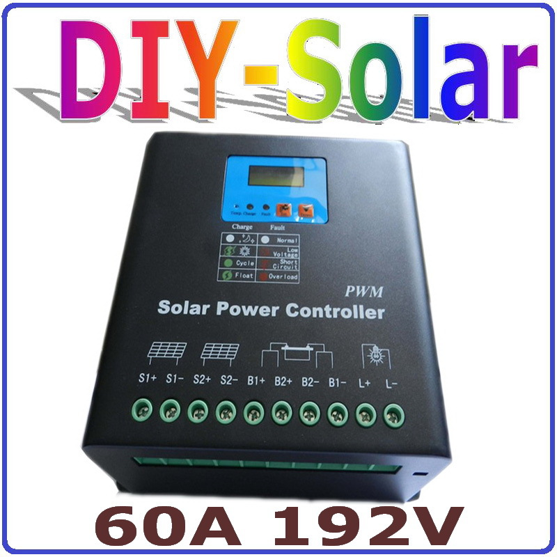 High Voltage 192V Battery Regulator 60A Solar Charge Controller for 11520W PV Panels Modules, Dual-fan cooling high voltage 192v battery regulator 60a solar charge controller for 11520w pv panels modules dual fan cooling