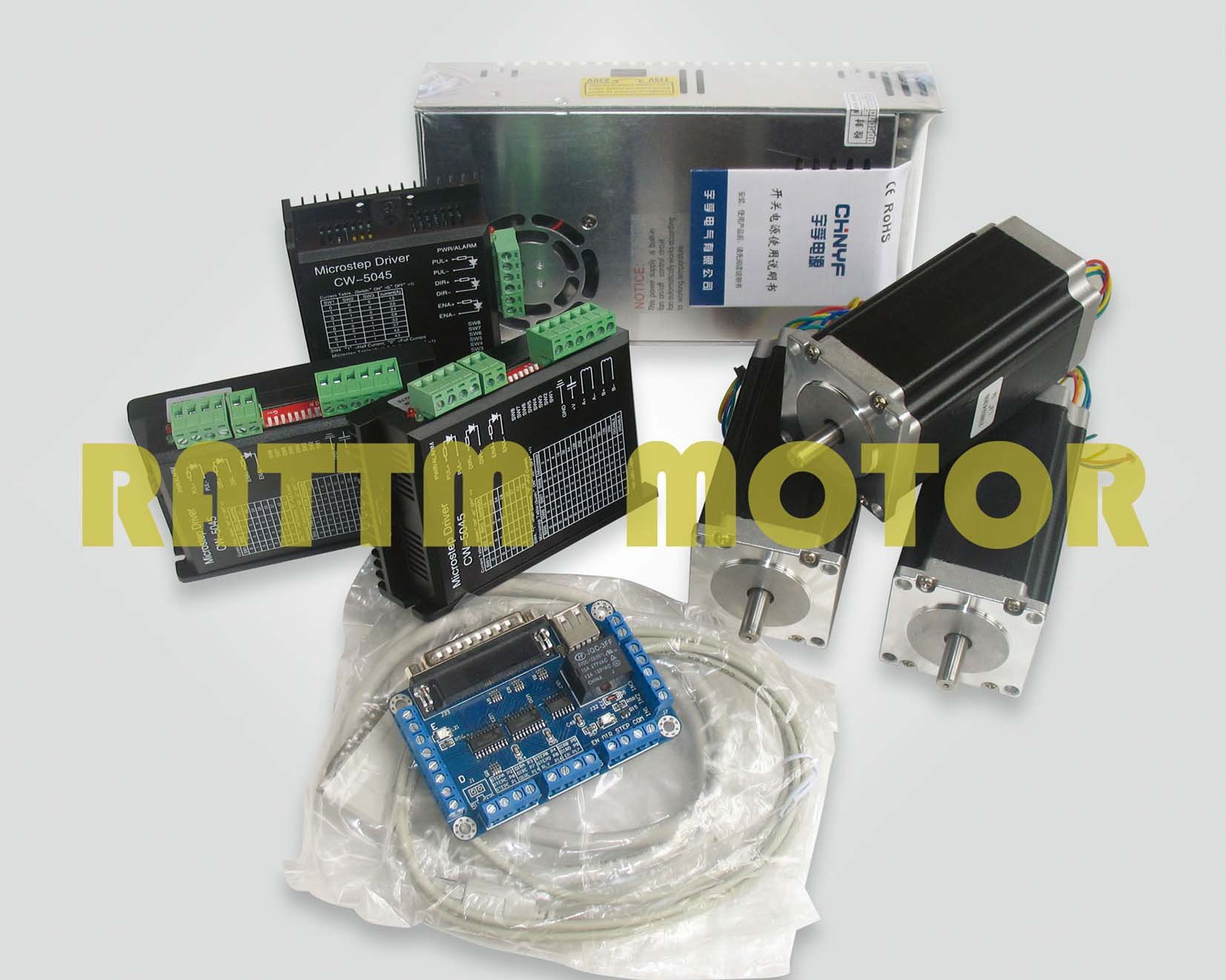 Germany Ship!!! 3 axis CNC stepper kit 3pcs NEMA23 425 oz-in(Dual shaft) stepper motor & 256 microstep 4.5A driver de ship free vat 4 axis nema23 425 oz in dual shaft stepper motor cnc controller kit