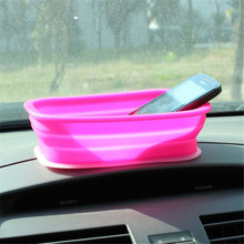 Car Silicone Folding Storage Box Small Sundries Antiskid Storage Box Desktop Drawer Accessories Storage Box GI872397