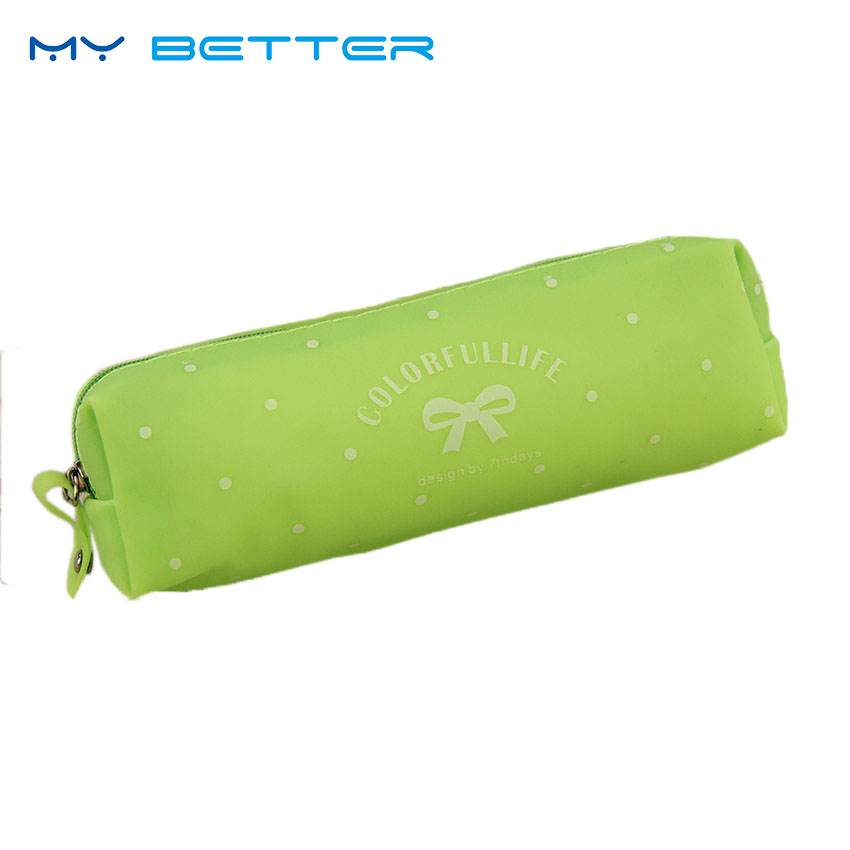 Beauty Women Travel Toiletry Kit Makeup Case Cute Bowknot Jelly Silicone Waterproof Cosmetic Bag