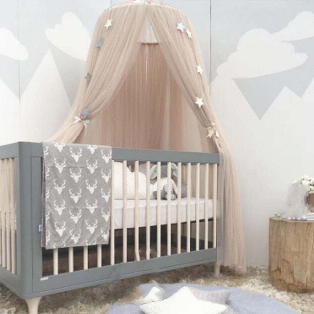 Hanging Baby Bedding Dome Mosquito Net Infant Chiffon Netting Round Canopy Dcoration Tent Control Reject Mosquito Home Decor