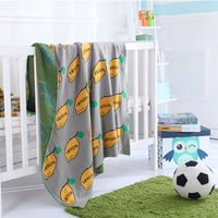 Bedspread blanket Pure cotton High Density Super Soft Pure cottonBlanket to on for the sofa/Bed/Car Portable Plaids