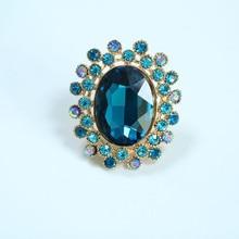 Anillos de gran circón para mujer, joyería de diamante de imitación dorado, anillo ajustable para mujer, anillo Vintage rojo, anillos de promesa de boda