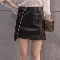 2017 Autumn Winter New Women Sexy Skirt PU Leather Mini Short Skirt Black Shorts Saia Plus Size Women Clothing Saias Femininas