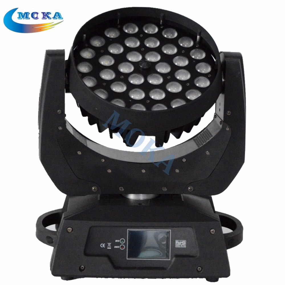 2pcs/lot 36*10W RGBW Beam Stage Lighting LED Moving Head Light 4 in1 Led Wash Lighting with Flight Case d20w30w40w50w60w80w road lamp head can pick arm street lights