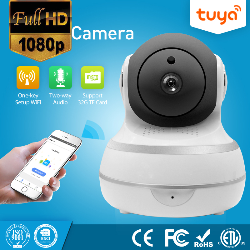 Auto Tracking 1080P PTZ Two Way Audio Tuya Wireless WiFi IP Security Camera  Smart Life Camera Products APP Remote Control Tuya