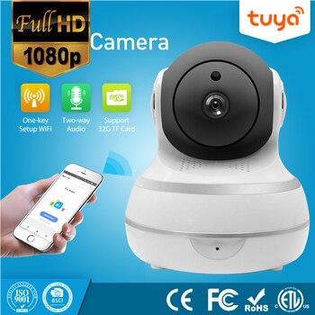 Auto Tracking 1080P PTZ Zwei-wege Audio Tuya Drahtlose WiFi IP Security Kamera Smart Leben Kamera Produkte APP Remote control Tuya