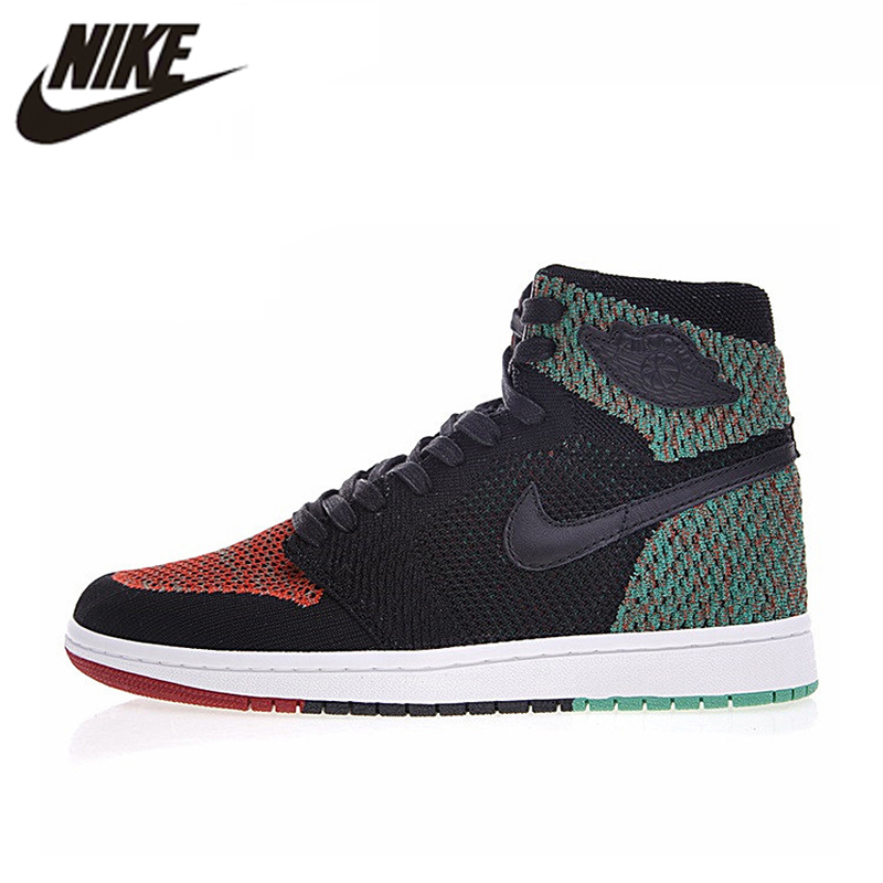 code promo 8bb91 59037 € 114.25 30% de réduction|Nike Air Jordan 1 Rétro Haute Flyknit BHM Hommes  chaussures de basket, Hommes Sports de Plein Air baskets AA2426 026-in ...