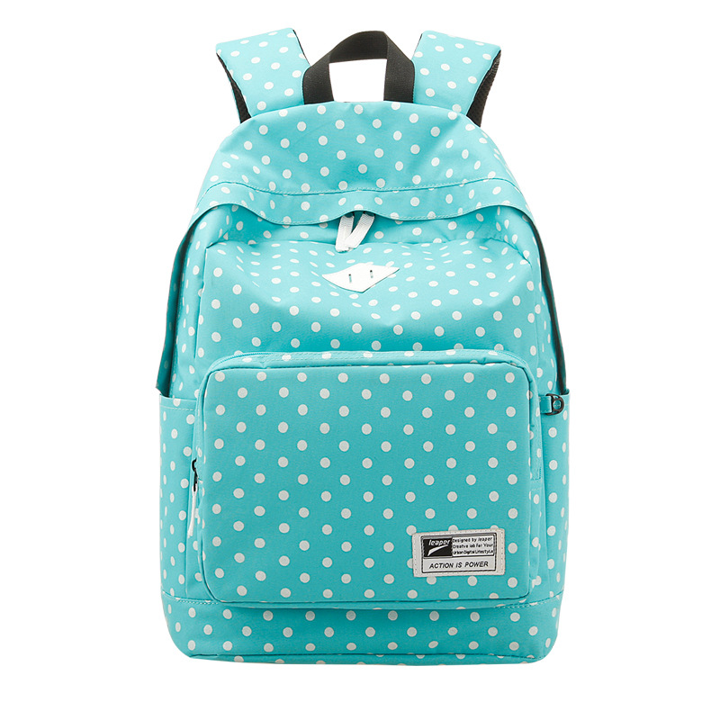 ФОТО Fashion New Dot School Backpack for Girls Nylon Backpack Casual Backpack Women Bags Travel Bag Book Bag