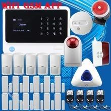 Бесплатная Доставка! Беспроводной/Проводной G90B WiFi GSM GPRS IntruderBurglar Охранная сигнализация ANDROID/IOS APP Беспроводная Ip-камера Flash Сирена