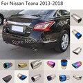 Стайлинг кузова автомобиля крышка глушитель труба выход Выделите выхлопной наконечник хвост 2 шт для Nissan Teana Altima 2013 2014 2015 2016 2017 2018