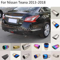 car body styling cover muffler pipe outlet dedicate exhaust tip tail 2pcs For Nissan Teana Altima 2013 2014 2015 2016 2017 2018