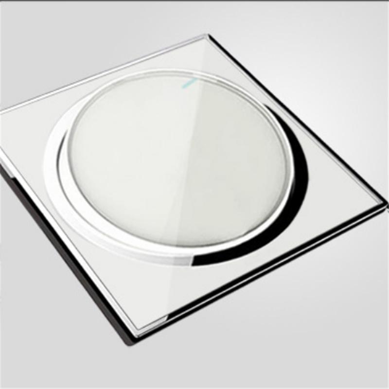 High Standard Wall Light Button Screen Dimmer Switch White