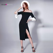 Black Evening Dresses 2018 Ever Pretty EP05882 2018 Fashion Women s Ruffles  Half Sleeve Winter Sexy Off Shoulder Ladies Gowns f457abd7ae61