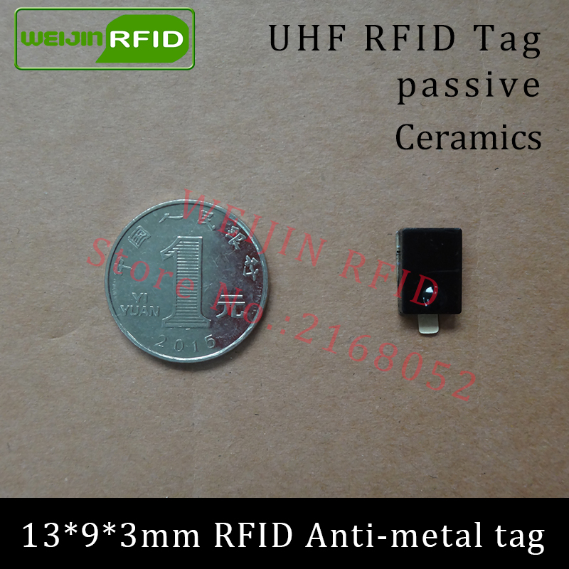 UHF RFID anti-metal tag 915mhz 868mhz Alien Higgs3 EPCC1G2 6C 13*9*3mm small rectangle Ceramics smart card passive RFID tags
