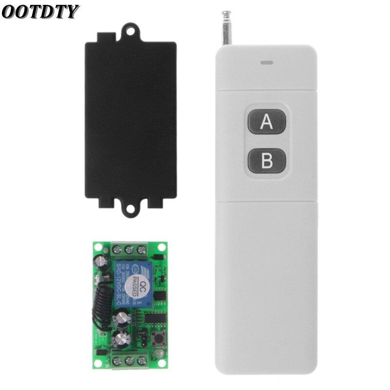 OOTDTY 3000m Long Range DC 12V 2CH RF Wireless Remote Control Switch System 315 Mhz 2-Key Transmitter + Receiver
