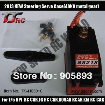 CYS-S8218 Digital 6V-7.2V 0.18sec/60a 164g Metal Gear 40KG High Torque Servo 1pcs power hd 8315tg 16kg high torque metal gear digital servo suitable for bigfoot car 0 16 sec 4 8v 0 14 sec 6 0v