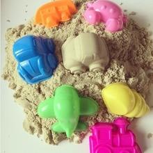 6 шт. ocean sky land play тесто пластилин плесень магия пляж песок формы для детей крытый чудо play игрушка плесень мультфильм diy наборы