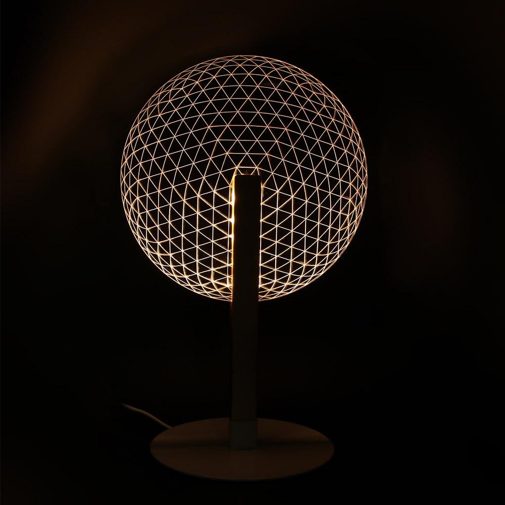 Round Net 3D Visual Table Lamp Warm White Luminous Acrylic LED lamp Stereo Illusion Reading Desk Lamp Bedroom Night Lamp Gifts jason price mastering visual c net