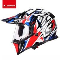 LS2 MX436 Motorcycle Helmet Atv Dirt Bike Cross Motocross Helmet Casque Casco Capacetesdouble Lens Off