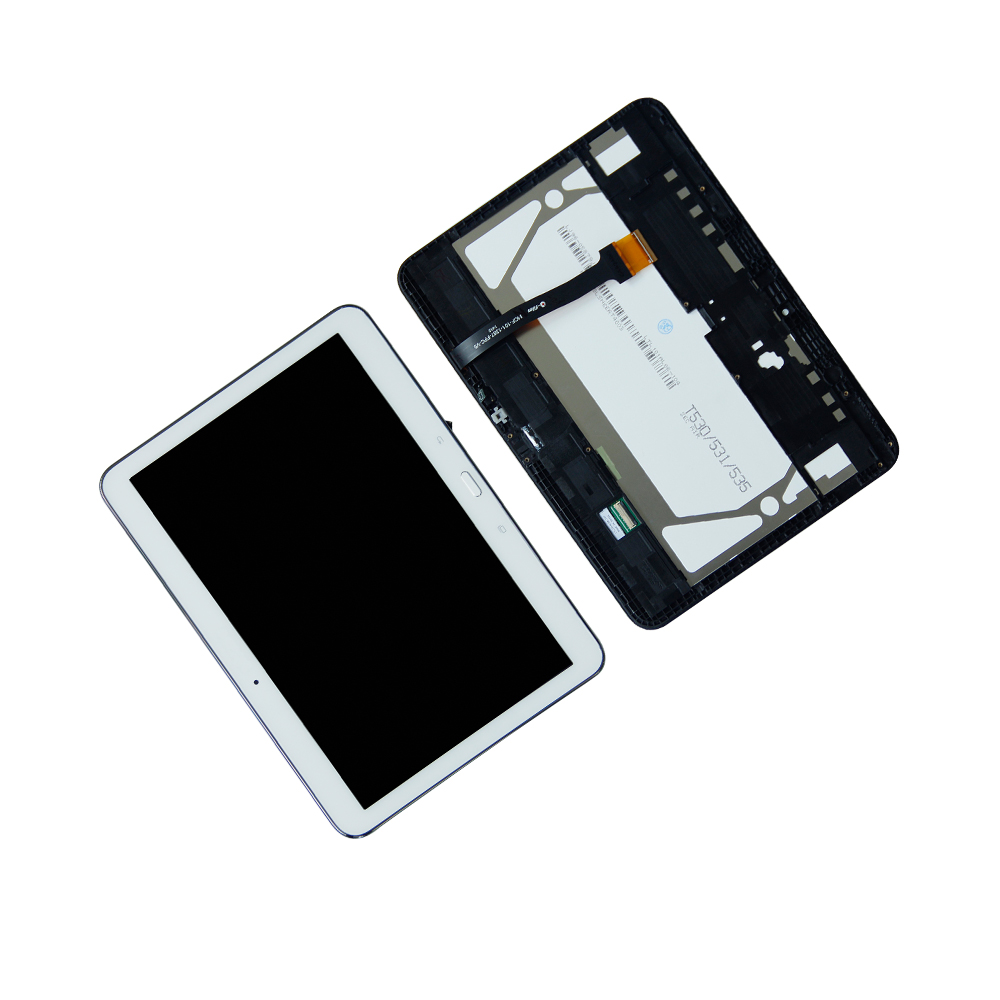все цены на Touch Screen Digitizer LCD Display For Samsung Galaxy Tab 4 SM-T530 T535 Rrame TouchScreen Assembly Tablet Panel Repair Parts онлайн