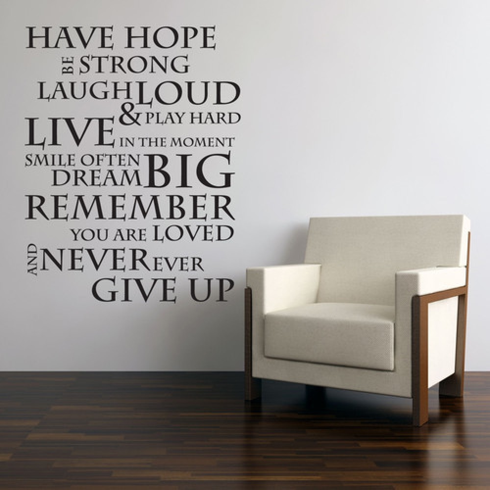 Inspirational quote wall stickers family lettering wall decals inspirational quote wall stickers family lettering wall decals motivational wall quotes never give up quote stickers g08033 in wall stickers from home amipublicfo Image collections