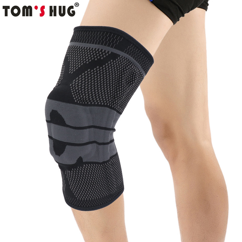 Tom der Umarmung Silicon Frühling Knie Unterstützung Pad Brace 1 stücke Gym Joint Pain Relief Hülse Knie Pad Warme Schwarz meniskus Sport Kneepad