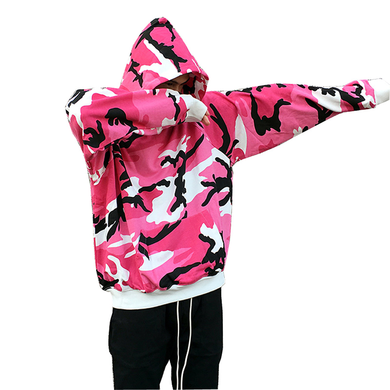 high quality 2017 new design camouflage Cotton Sweatshirts men fashion Hip Hop sweatshirts casual Loose Oversized Hoodies
