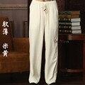 Nova Chegada Calças de Algodão De Linho Kung Fu dos homens Chineses Kung Fu Pant Calças de Tai Chi Wu Shu Calças Tamanho M L XL XXL XXXL W39