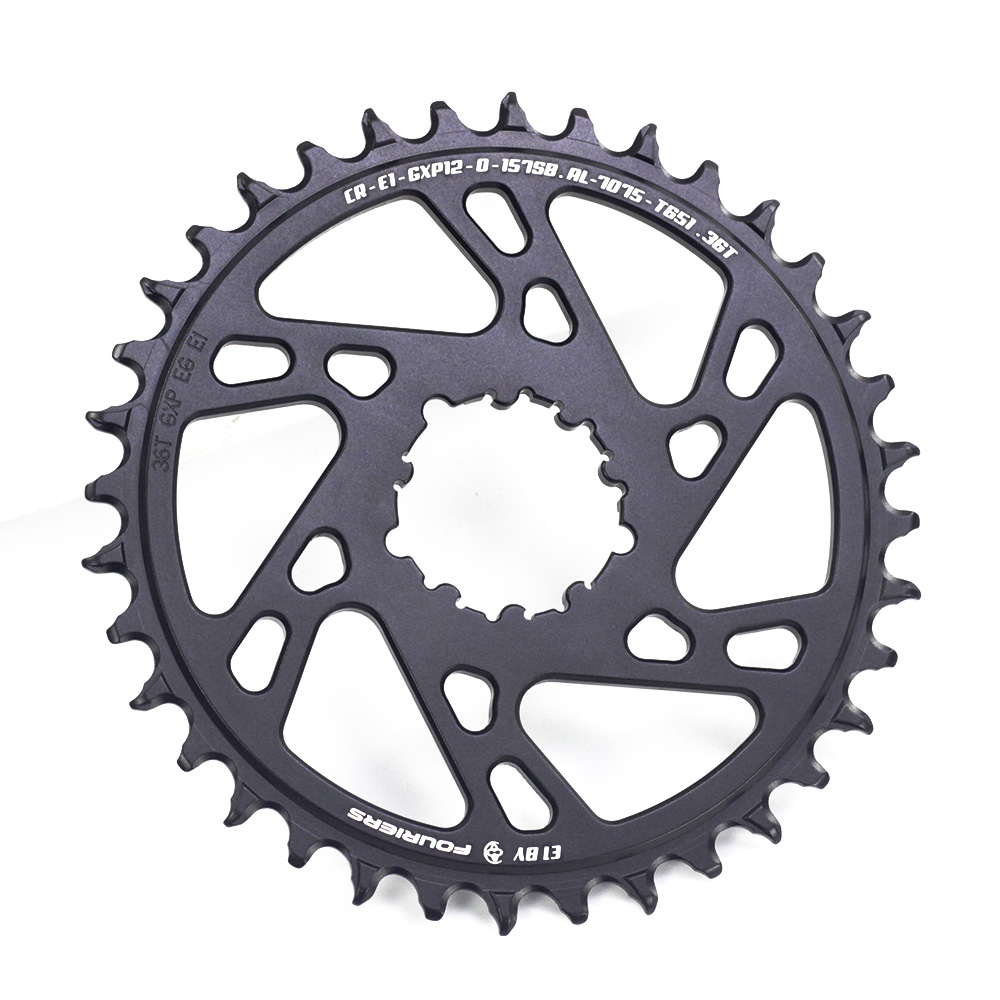 Fouriers Circle MTB Bike Single Chainring 0mm Offset Direct Mount Boost 157mm For GXP 12 Speed