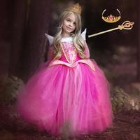 Cinderella Dress Girls Easter Party Dress Sleeping Beauty Princess Dress Rapunzel Carnival Costume For Kids Children