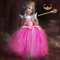 Cinderella Dress Girls Easter Party Dress Sleeping Beauty Princess Dress Rapunzel Carnival Costume For Kids Children