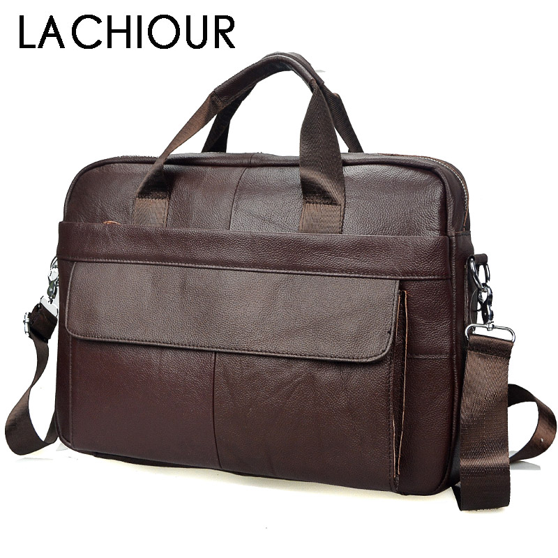 Brand Genuine Leather Men Bag male Casual Tote Shoulder Crossbody Bags Mens Business Leather Messenger Bag Laptop Briefcases