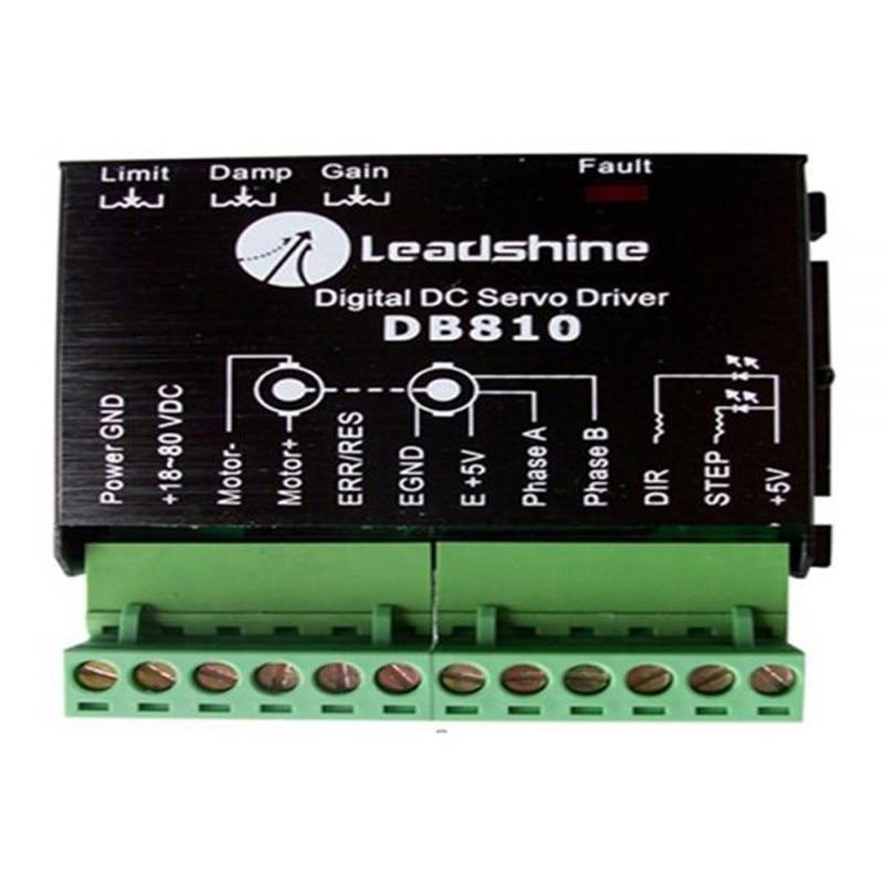 Leadshine DB810 DC Servo Motor Driver for Myjet JHF ALLWIN Printer leadshine 180w brushless dc servo motor 57bl180d 1000 circular flange 36vdc 7a 0 57nm 3000rpm