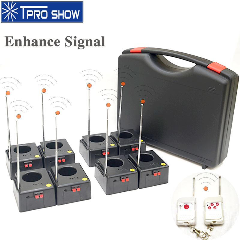 Sistema de controle de fonte fria sem fio 8/12 antena receptor remoto casamento pyro equipamentos base eletrônica máquina palco mostrar dj