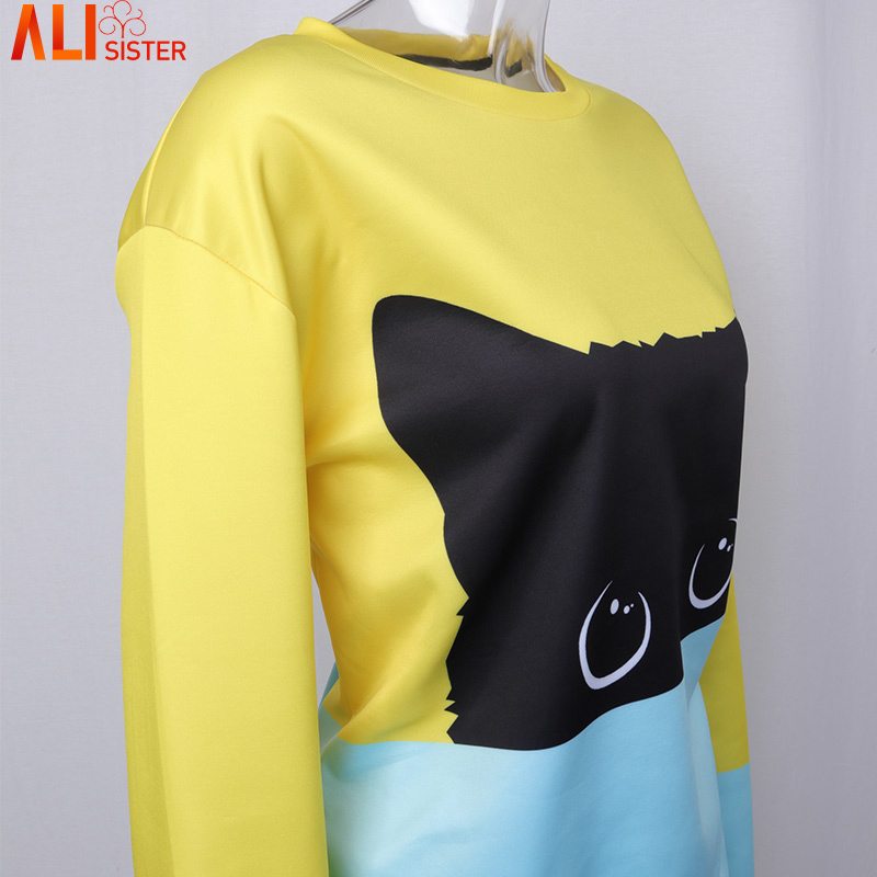 Alisister Cute Cat Hoodies 3d Sweatshirt Women Men Kawaii Black Cat Hoody Animal Autumn Winter Pullovers Funny Dropship #5