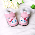 2015 new Toddler winter cotton-padded shoes baby thickening shoes warm shoes girls soft sole kids shoes