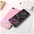 Victoria Lace Case For iPhone 7 7 Plus secret Letter Cover Case For iPhone 6 6S Plus Soft TPU Matte Cases phone Back Cover