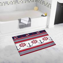 Anchors and Ship Wheel Bath Rug Non-slip Bathroom Mat 20 W X